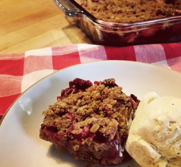 Strawberry Rhubarb Crisp -  Stanley's Favorite dessert!